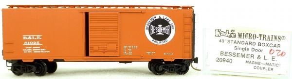 Micro Trains Line 20940 Bessemer L.E. 81025 40' Standard Boxcar 1:160 OVP #H020 å