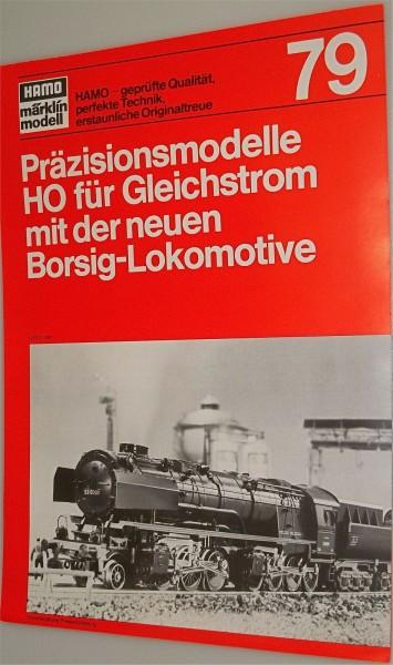 HAMO Katalog Neuheitenblatt Märklin 1979 gut bis sehr gut