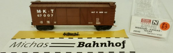 MKT 67007 40' Outside Braced Box Car Micro Trains Line 29040 1:160 P63 å