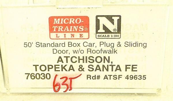 Micro Trains Line 76030 ATSF 49635 50´ Box Car 1:160 OVP #E å *