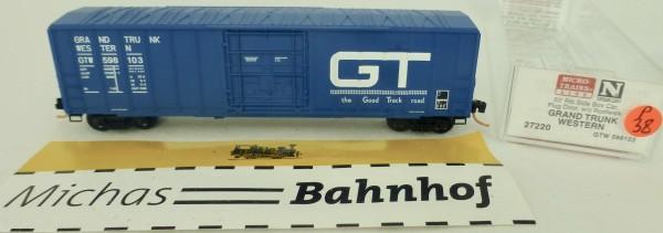 Grand Trunk West 50' Rib Side Boxcar 598103 Micro Trains Line 27220 1:160 P38 å