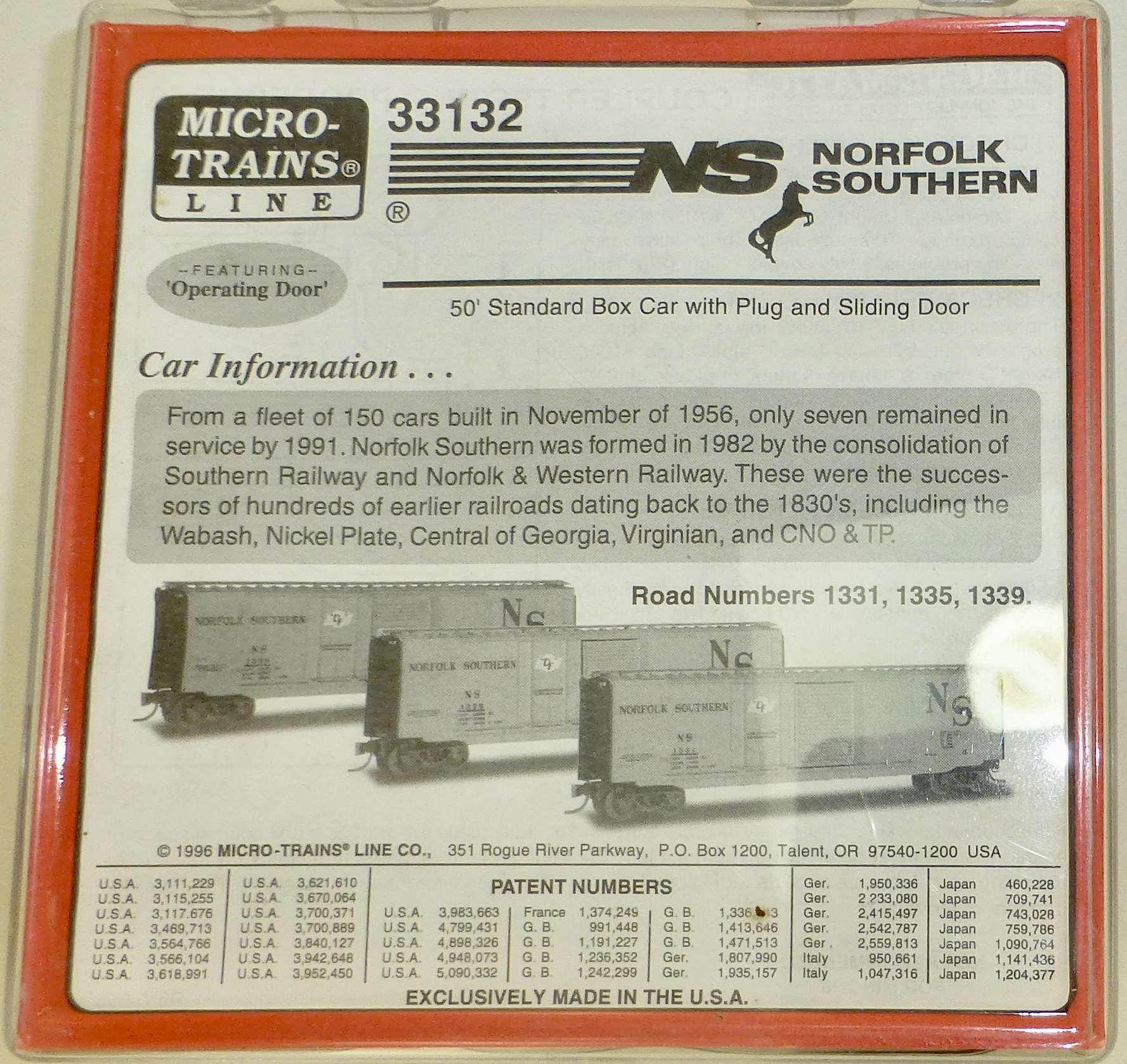 Micro Trains Line 33132 Norfolk Southern 3-tlg SET 50/' St Box Car OVP 1:160 #Z04