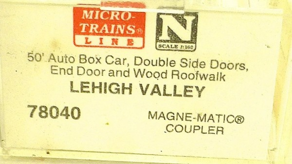 Micro Trains Line 78040 Lehigh Valley 8505 50´ Box Car 1:160 OVP #E å *