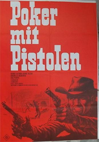 Poker mit Pistolen George Eastman Filmplakat å *