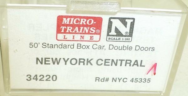 Micro-Trains Line 34220 (1) New York Central 50' Standard Box Car N 1:160 A å *