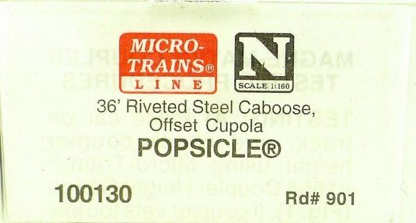 Micro Trains Line 100130 POPSICLE 901 36' Riveted Steel Caboose 1:160 OVP #F å*