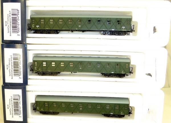 3tlg Set Behelfschnellzugwagen DR EpIII HERIS 80120 TT OVP HL3 å*