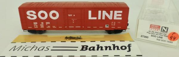 Soo Line 50' Rib Side Boxcar SOO 19369 Micro Trains Line 27260 1:160 P44 å