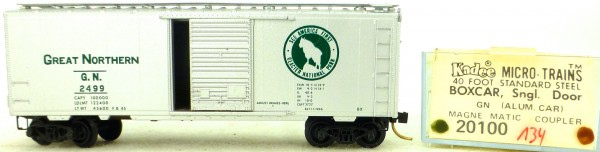 Micro Trains Line 20100 Great Northern 2499 40' St. Boxcar 1:160 OVP #H134 å
