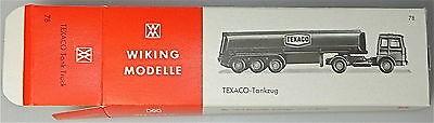 78 TEXACO Tankzug Wiking Karton leer # å *