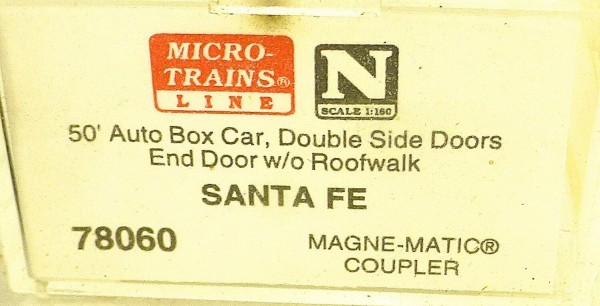 Micro Trains Line 78060 Santa Fe 9870 50´ Box Car 1:160 OVP #E å *
