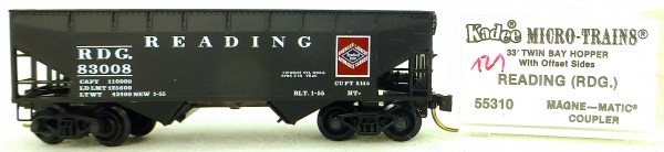 Micro Trains Line 55310 Reading 83008 33' Twin Hopper OVP 1:160 #K121 å