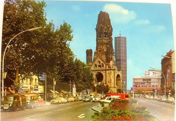KuDamm Kaiser Wilhelm Gedächtniskirche Berlin Ansichtskarte 50 60er Jahre 01 å *