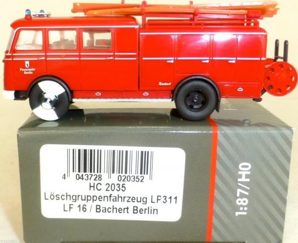 BERLIN Taucher Löschgruppenfahrzeug LP311 LF16 Bachert HEICO HC2035 1:87 LB4 µ *