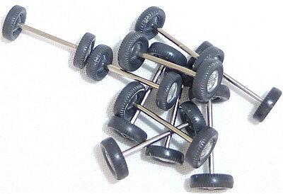10 Achsen für Wiking 1:87 PKW silberne Radkappe bemalt 70er Jahre å *