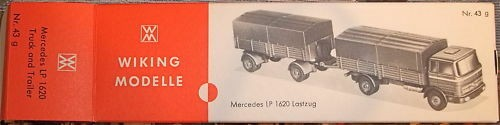 43g Mercedes LP 1620 Lastzug Wiking Karton leer å *