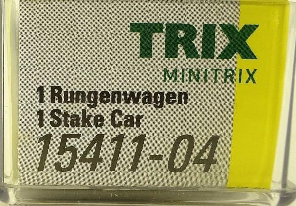Minitrix 15411-04 Rungenwagen Stake Car TRIX N 1:160 NEU OVP HS3 å *