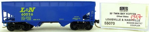 Micro Trains Line 55070 Louisville Nashville 60026 33' Twin Hopper OVP 1:160 #K097 å