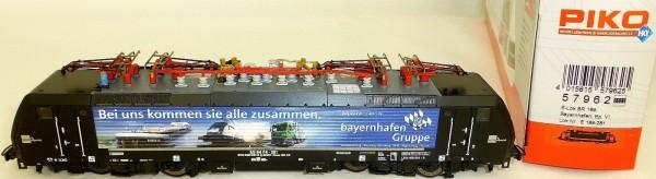 E 189 Bayernhafen MRCE Elektrollok DSS NEM EpVI Piko 57962 H0 1:87 OVP HE2 µ *