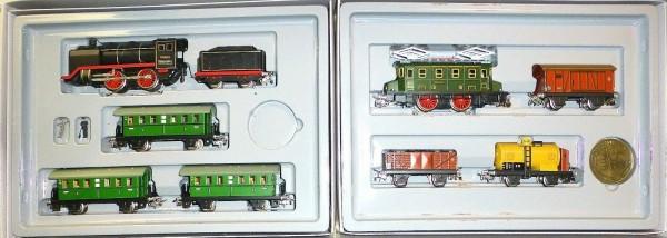 Märklin 0050 Nostalgie 2 Züge Güter- + Personenzug Dampf- Ellok H0 1:87 OVP å *