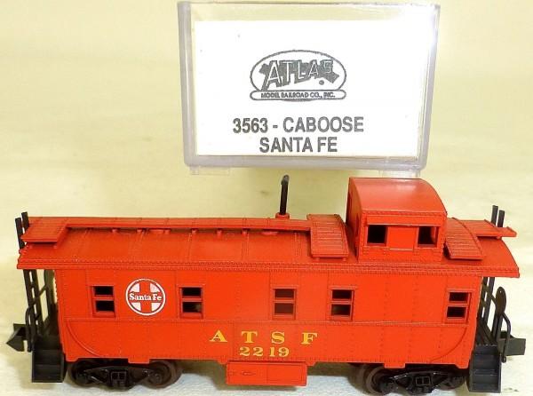 Santa Fe CABOOSE Güterwagen US ATLAS 3563 N 1:160 OVP å *