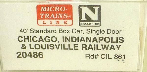 40´ St Boxcar MONON C.I.L. 861 Micro Trains Line 20486 1:160 D å *