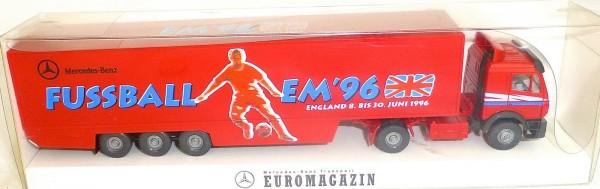 EM'96 MB Transport EUROMAGAZIN LKW Werbemodell Wiking H0 1:87 OVP # å