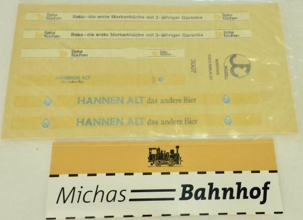 HANNEN ALT Bier + Beka Küchen Beschriftung Bus Fröwis 3007 H0 1:87 å