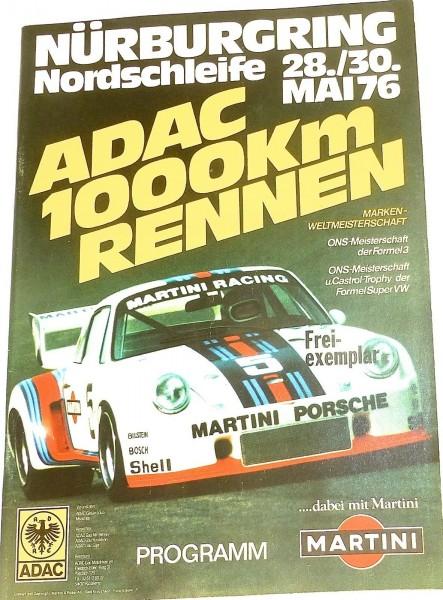 28./30. Mai 76 ADAC 1000km Rennen Marken WM Nürburgring Programmheft å *X09