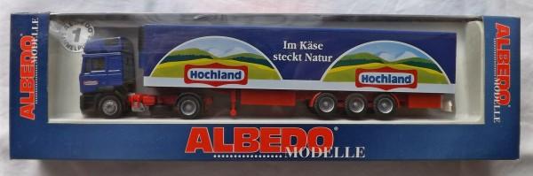 MAN F2000 LKW Hochland Käse Albedo 297002 Kühlkoffer Sattelzug H0 OVP 1:87#UI3 å