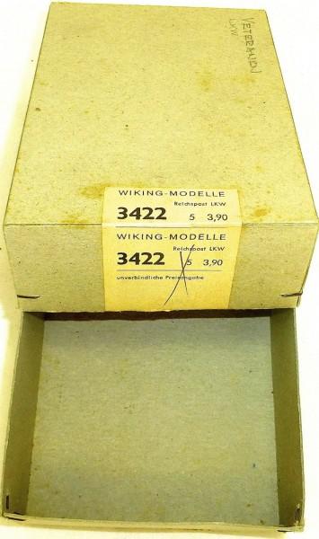 Reichspost LKW Wiking Modelle Leerkarton Karton Wiking 3422 H0 1:87 å *