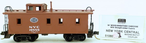 Micro Trains Line 51080 New York Central 19556 34' CABOOSE 1:160 OVP #K053 å