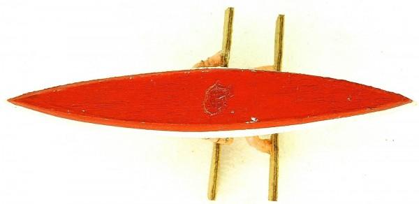 Paddelboot 2er mit Figuren Paar Preiser 708 Holz 50er Jahre H0 1:87 PRH0 å *