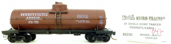 Micro Trains Line 65230 Pennsylvania 498936 39' Single Dome Tank Car 1:160 OVP #i047 å