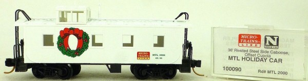 Micro Trains Line 100090 MTL Holiday 36' Riveted Steel Caboose 1:160 OVP #F å*