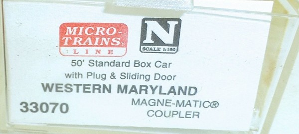 Micro-Trains Line 33070 Western Maryland 50' Standard Box Car N 1:160 A å *