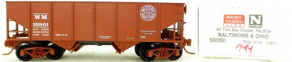 Micro Trains Line 56090 Western Maryland 10801 33' Twin Hopper OVP 1:160 #K144 å
