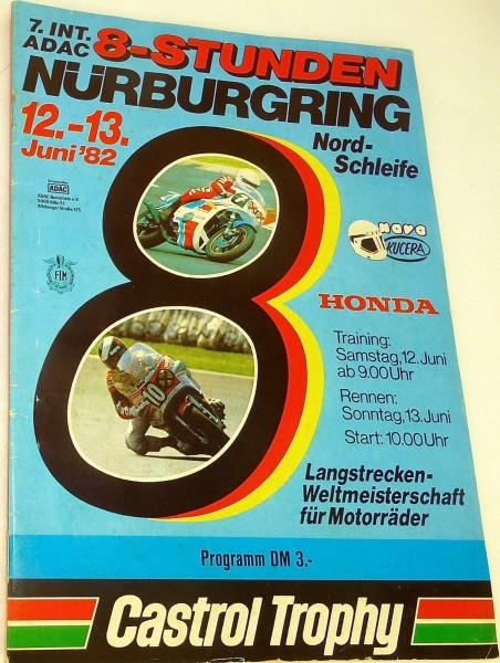 12./13. Juni 82 Nordschleife OHNE Gewinnlos Nürburgring PROGRAMMHEFT å *X12