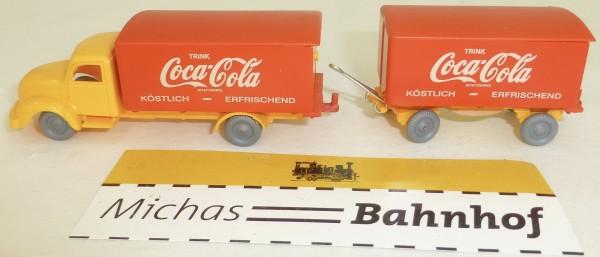 Coca-Cola Magirus Rundhauber Hängerzug orange rot IMU H0 1/87 #2 # å