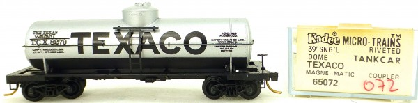 Micro Trains Line 65072 TEXACO 8279 39' Single Dome Tank Car 1:160 OVP #i072 å