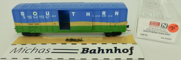 Southern Railway 50' Rib Side Boxcar 550555 Micro Trains Line 25610 1:160 P09 å