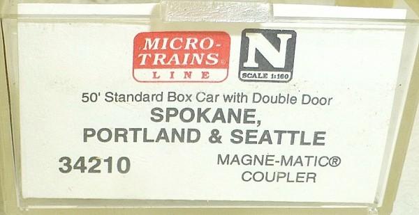 Micro-Trains Line 34210 Spokane Portland Seat 50' Standard Box Car N 1:160 A å *