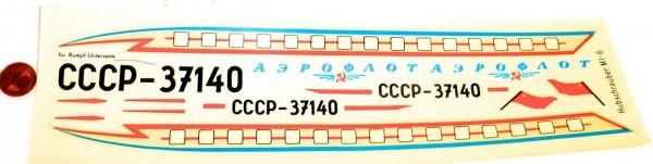 MI 6 CCCP Hubschrauber Aeroflot VEB Plasticart Nassschieber VEB 059862 # HN5 å
