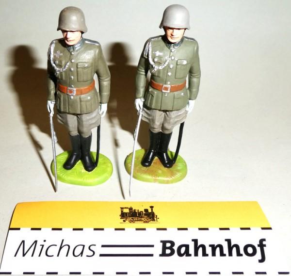 2x Offizier Elastolin Kunststoff 8,5cm #6 å