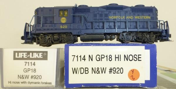 Life Like 7114 Norfolk Western 920 GP18 Hi Nose Diesellok N 1:160 OVP Y3 å *