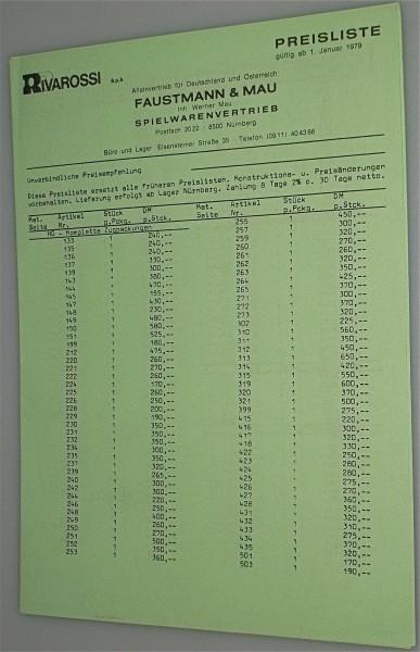 Rivarossi Preisliste 1979 å *