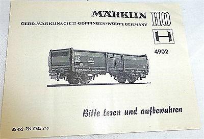 4902 Anleitung Märklin 68 492 RN 0265 ma