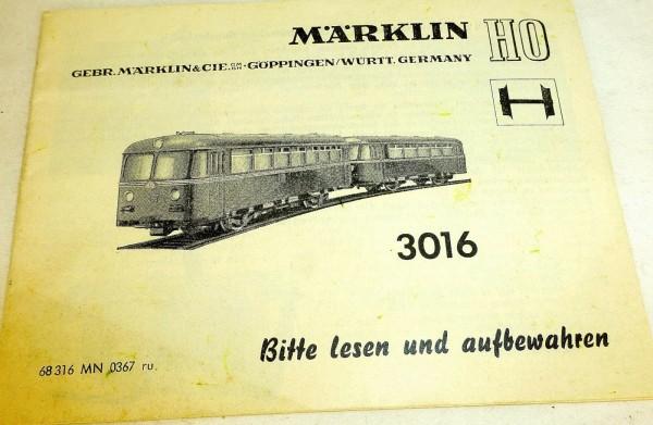 Märklin Anleitung Bausatz 3016 68 316 MN 0367 ru å *