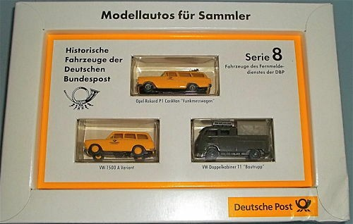 Deutsche Post Opel P1 VW 1500 VW T1 DoKa BREKINA 1:87 å