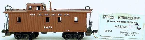 Micro Trains Line 50150 WABASH 2637 34' CABOOSE 1:160 OVP #K042 å